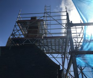 Restoration scaffold at Lincoln Catherdral