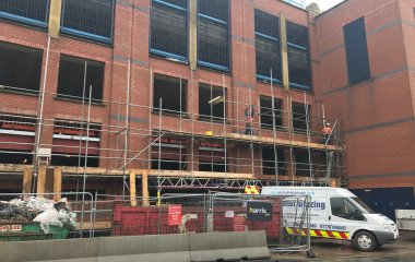 construction scaffolding primark new store